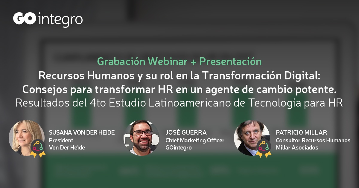 [Grabación Webinar] Resultados 4to Estudio de HR Tech + Rol de HR en la Transformación Digital