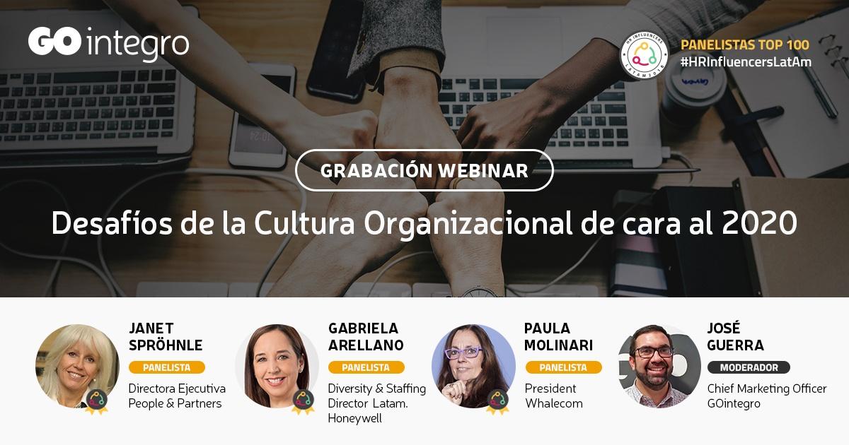 [Grabación] Webinar   Desafíos de la Cultura Organizacional de cara al 2020